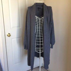 Unworn gray cashmere cardigan by Halogen S/M